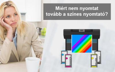 Miért nem nyomtat tovább a színes nyomtató?